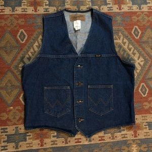 Wrangler Vintage Denim Vest Large